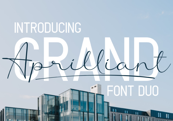 Print on Demand: Grand Aprilliant Duo Script & Handwritten Font By Sibelumpagi Studio