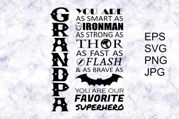 Download Free Grandpa Superhero Graphic By Everyline Designs Creative Fabrica for Cricut Explore, Silhouette and other cutting machines.