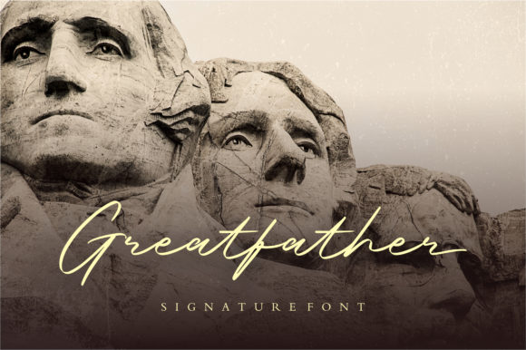 Print on Demand: Greatfather Script & Handwritten Font By Balpirick