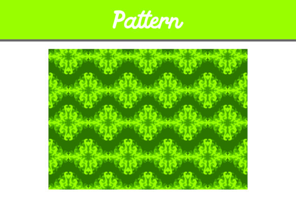 Print on Demand: Green Background Pattern Ornamen Graphic Backgrounds By Arief Sapta Adjie II