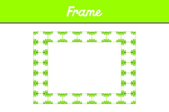 Print on Demand: Green Frame Ornament Pattern Graphic Backgrounds By Arief Sapta Adjie II