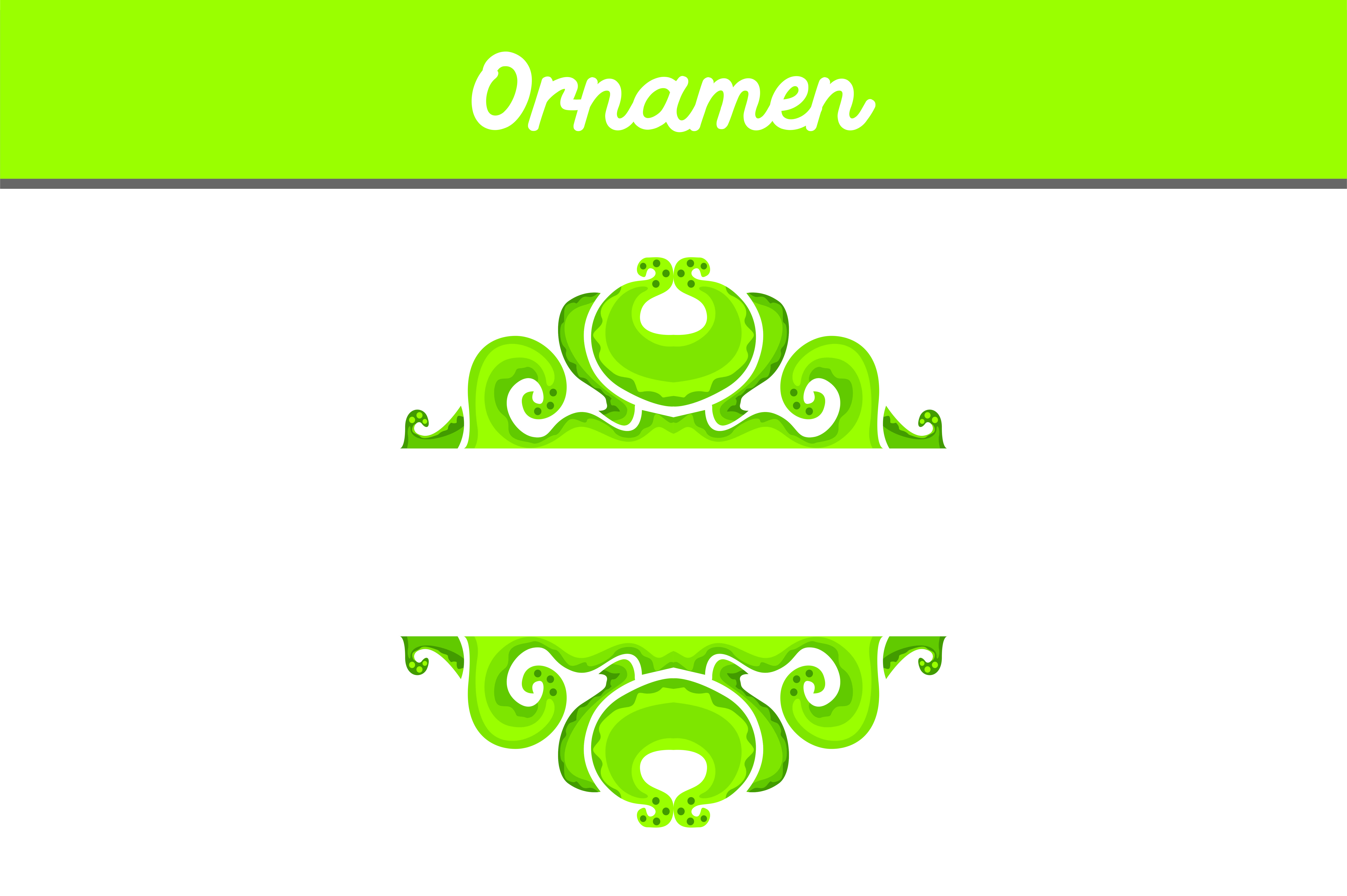 Download Free Green Frame Ornament Vector Graphic By Arief Sapta Adjie for Cricut Explore, Silhouette and other cutting machines.