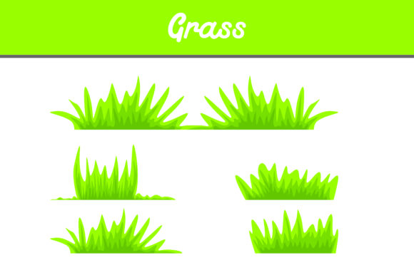 Print on Demand: Green Grass Bundle Graphic Backgrounds By Arief Sapta Adjie II