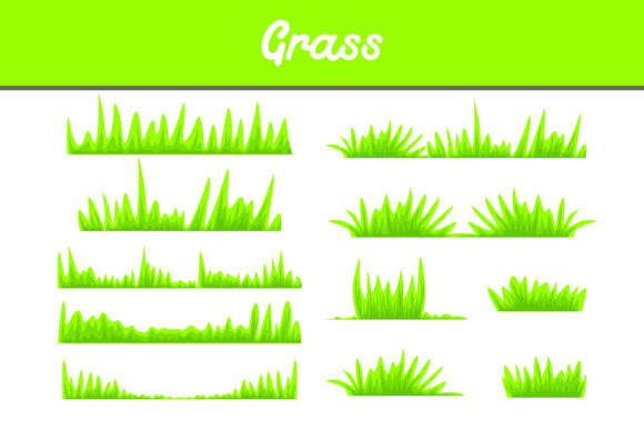 Print on Demand: Green Grass Vector Bundle Graphic Backgrounds By Arief Sapta Adjie