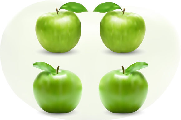 Green Apple Vector Illustration Graphic Illustrations By MrBrahmana