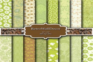 Green Digital Papers Graphic By retrowalldecor