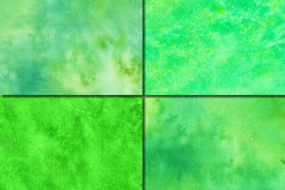 Green Watercolor Digital Papers / Textures /backgrounds Graphic By VR Digital Design Image 3