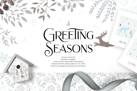 Greeting Season Graphic Illustrations By BilberryCreate