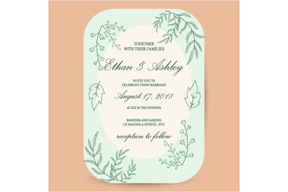 Print on Demand: Greeting Card Invitation Design Graphic Print Templates By iop_micro