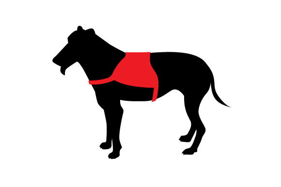 Download Free Greyhound Silhouette Wearing Service Dog Vest Svg Cut File By for Cricut Explore, Silhouette and other cutting machines.