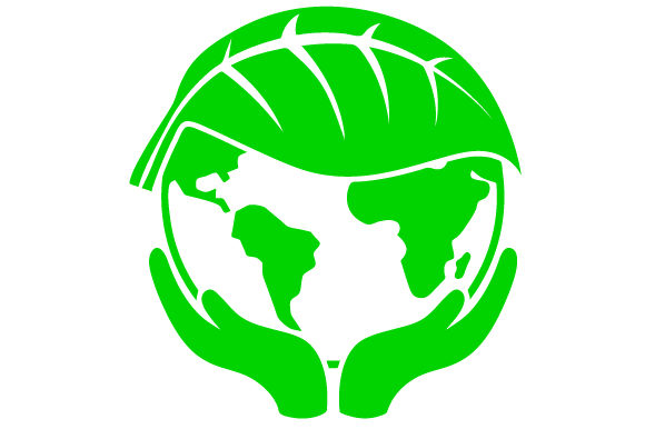 Download Free Hands Holding Green Earth With A Leaf Over Half Of The Planet Svg for Cricut Explore, Silhouette and other cutting machines.