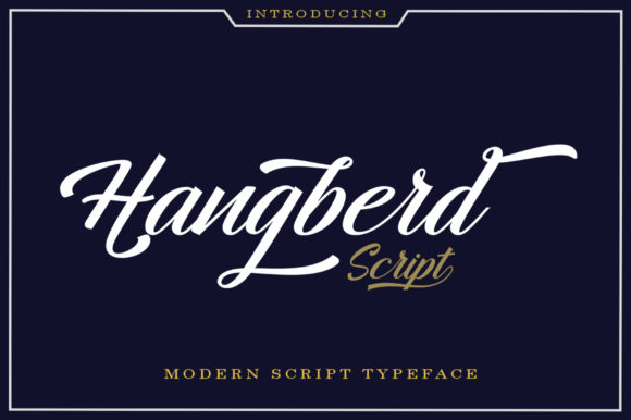 Print on Demand: Hangberd Script Script & Handwritten Font By Zane Studio