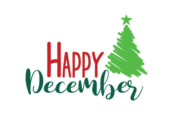 Download Free Happy December Svg Cut Graphic By Thelucky Creative Fabrica for Cricut Explore, Silhouette and other cutting machines.