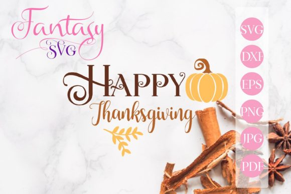 Print on Demand: Happy Thanksgiving Svg Graphic Crafts By Fantasy SVG