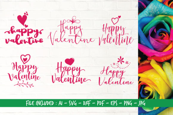 Download Free Happy Valentine Bundle Graphic By Home Crafter Design Co for Cricut Explore, Silhouette and other cutting machines.