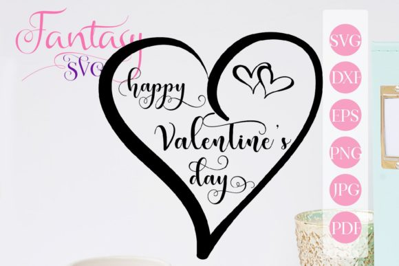 Print on Demand: Happy Valentines Day Svg Graphic Crafts By Fantasy SVG