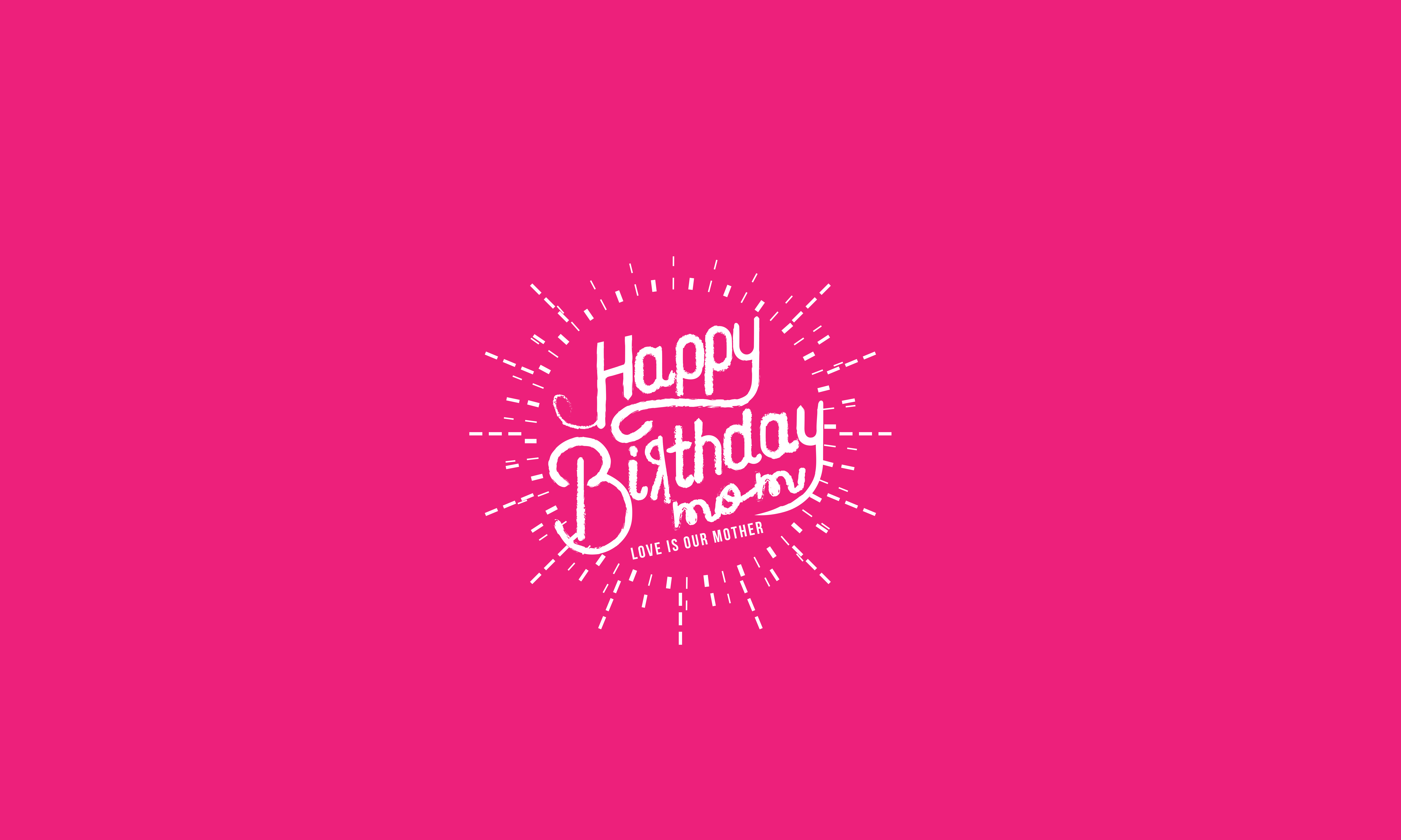 Download Free Happy Birthday Mom Love Is Our Mother Graphic By Baraeiji for Cricut Explore, Silhouette and other cutting machines.
