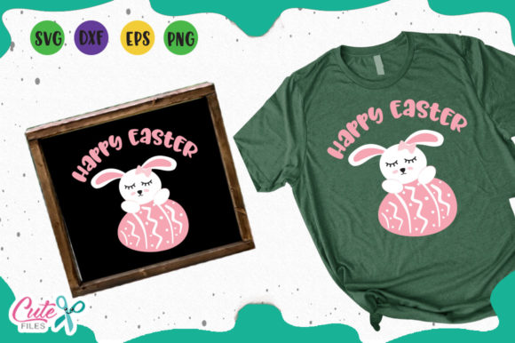 Download Free Happy Easter Bunny Svg Graphic By Cute Files Creative Fabrica for Cricut Explore, Silhouette and other cutting machines.