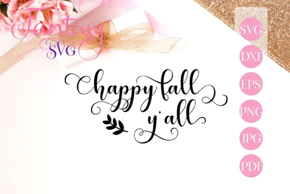 Print on Demand: Happy Fall Y'all Svg Graphic Crafts By Fantasy SVG
