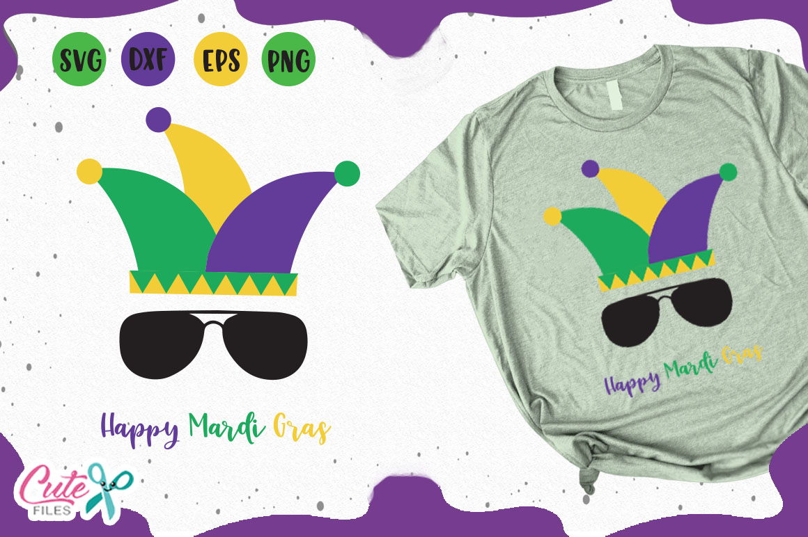 Download Free Happy Mardi Gras Svg Graphic By Cute Files Creative Fabrica for Cricut Explore, Silhouette and other cutting machines.