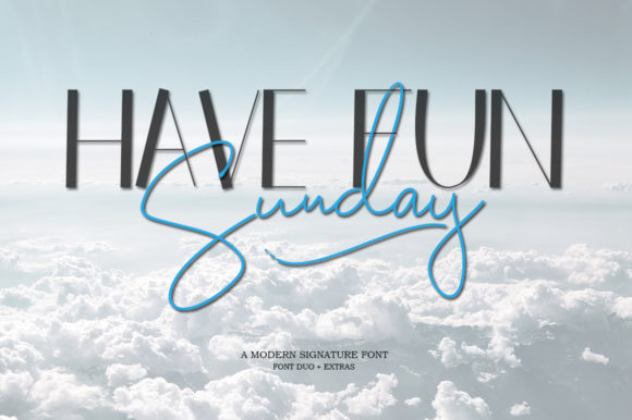 Print on Demand: Have Fun Sunday Duo Skript & Handgeschrieben Schriftarten von Natural Ink