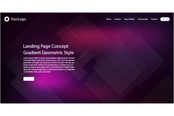Header Web for Landing Page Graphic Websites By MrBrahmana - Image 1