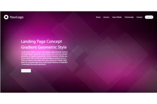 Header Website of Landing Page Graphic By MrBrahmana