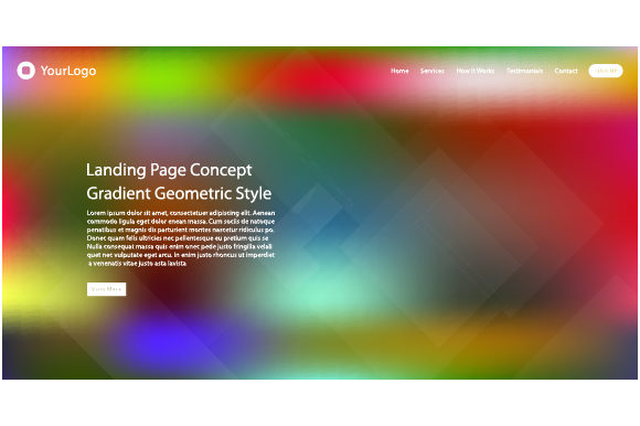 Header Website of Landing Page Graphic Web Elements By MrBrahmana