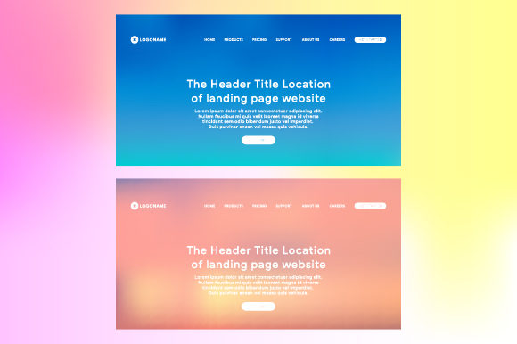 Header of Landing Page with Gradient Mesh Graphic Websites By MrBrahmana