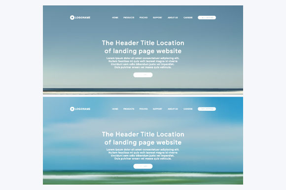 Header Web of Landing Page Graphic Websites By MrBrahmana - Image 1