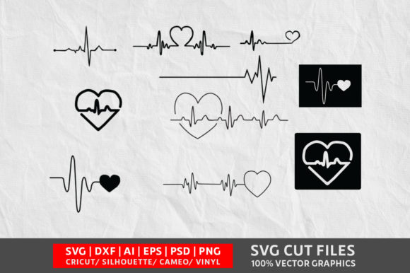 Download Free Heartbeat Graphic By Design Palace Creative Fabrica for Cricut Explore, Silhouette and other cutting machines.