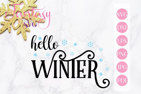 Print on Demand: Hello Winter Svg Graphic Crafts By Fantasy SVG