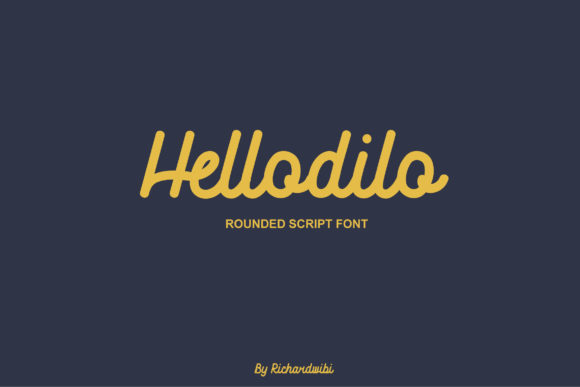 Print on Demand: Hellodilo Script & Handwritten Font By Hardtype