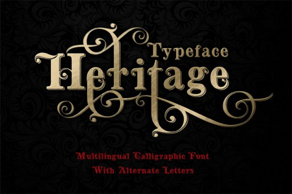 Print on Demand: Heritage Script & Handwritten Font By bywahtung