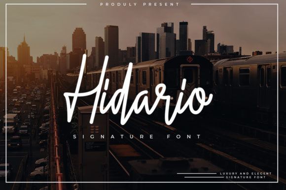 Print on Demand: Hidario Script & Handwritten Font By indotitas