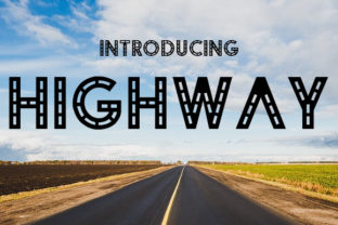 Highway Font By da_only_aan