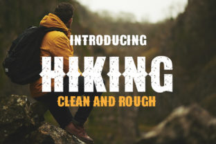 Print on Demand: Hiking Display Font By da_only_aan