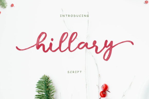 Print on Demand: Hillary Script Manuscrita Fuente Por SiwoxS
