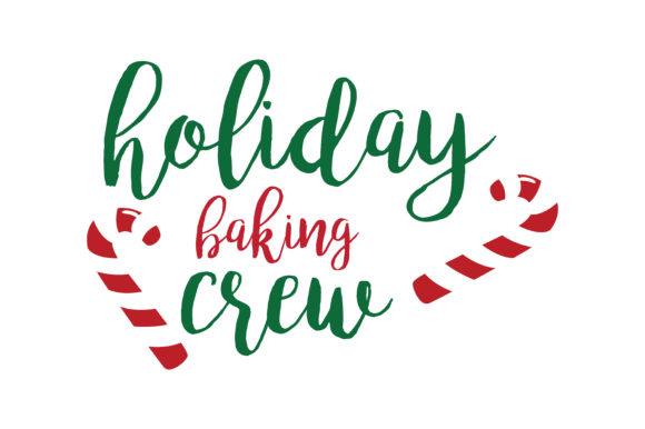 Download Free Holiday Baking Crew Svg Cut Graphic By Thelucky Creative Fabrica for Cricut Explore, Silhouette and other cutting machines.