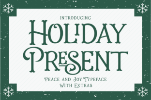 Print on Demand: Holiday Present Family Display Schriftarten von 50Fox