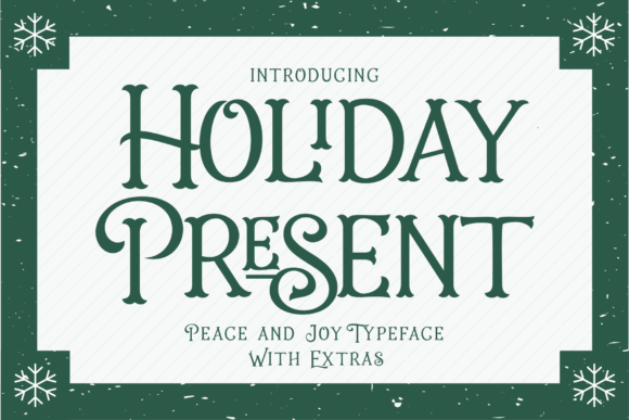 Print on Demand: Holiday Present Family Display Font By 50Fox