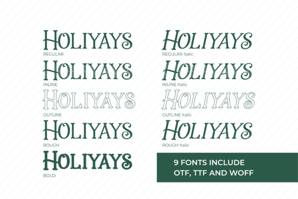 Holiday Present Family Font Downloadable Digital File