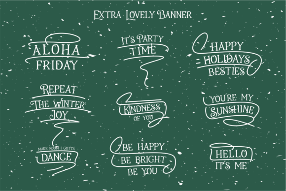 Holiday Present Family Font Popular Design