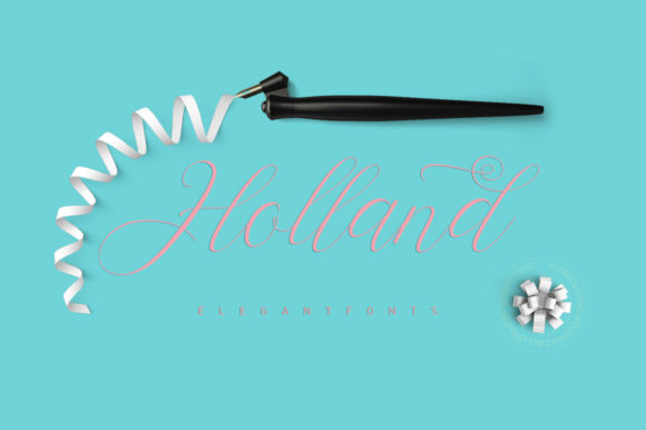 Print on Demand: Holland Script Script & Handwritten Font By Stripes Studio - Image 1