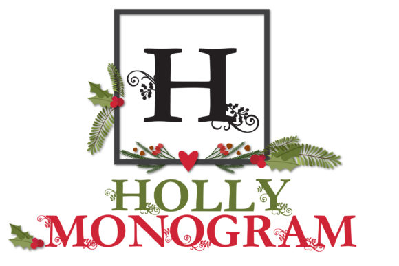 Holly Monogram Display Font By Illustration Ink