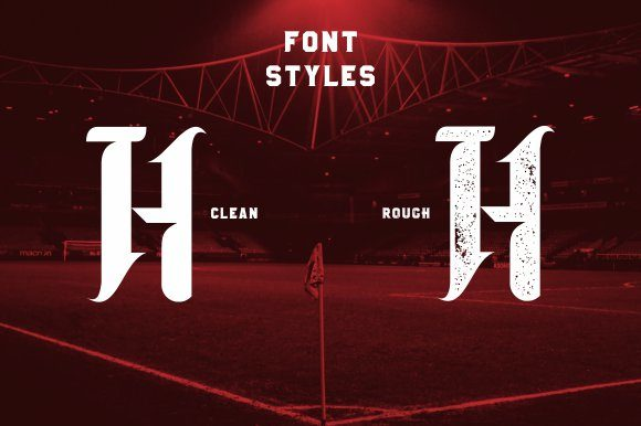 Print on Demand: Hooligans Blackletter Font By sanggravis - Image 3