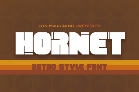 Print on Demand: Hornet Display Font By DonMarciano