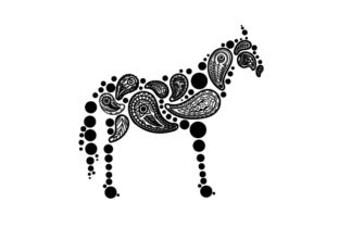 Horse Made out of Paisly Patterns Paisley Craft Cut File By Creative Fabrica Crafts 2