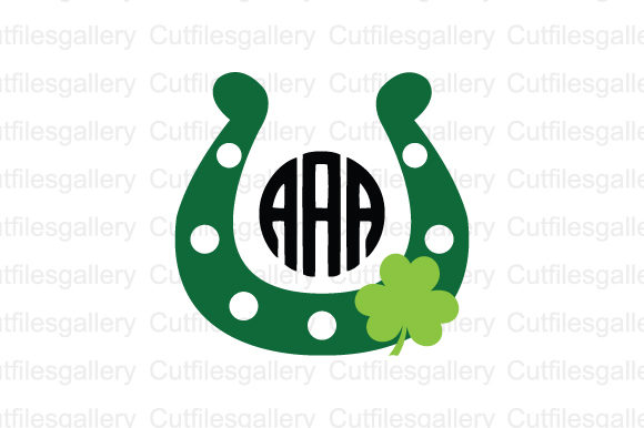 Download Free Horseshoe Clover Monogram Svg Graphic By Cutfilesgallery for Cricut Explore, Silhouette and other cutting machines.