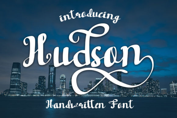 Print on Demand: Hudson Script & Handwritten Font By wny79